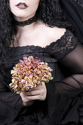 Flowers Photograph - Close Up Of Beautiful Young Woman by Ethiriel  Photography