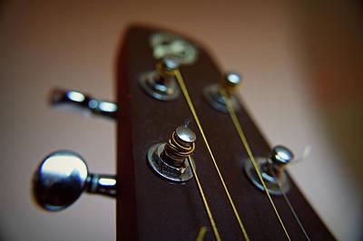 String Art Photograph - Close-up Of Guitar by Image by Maistora (Vladimir Dimitroff)