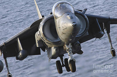 Av-8b Photograph - Close-up View Of An Av-8b Harrier II by Stocktrek Images