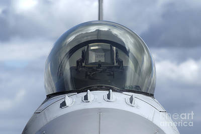 Close-up View Of The Canopy On A F-16a Print by Ramon Van Opdorp
