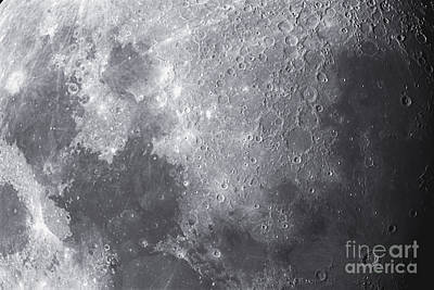 Close Up View Of The Moon Print by Ken Crawford