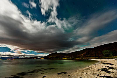 Cloud And Auroras Print by Frank Olsen