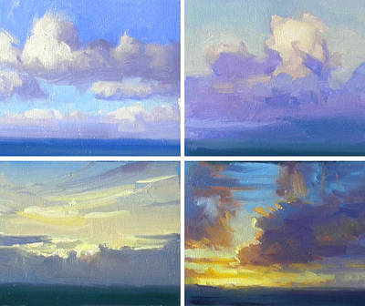 Cloud Studies Print by Richard Robinson