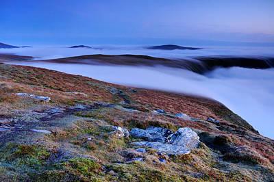 Cloud Waterfalls Bannerdale Crags Print by Stewart Smith