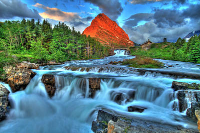 Clouds And Waterfalls Print by Scott Mahon