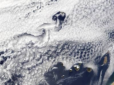 Canary Photograph - Clouds Disrupted By Islands by Nasa