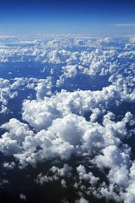 Background And Textures Photograph - Clouds From Aerial View by Natural Selection Craig Tuttle