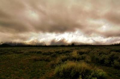Clouds Over The Tetons Print by Ellen Heaverlo