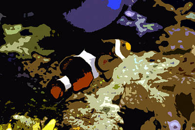 Clown Fish Digital Art - Clown Fish by David Lee Thompson