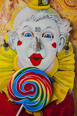 Clown Nose Photograph - Clown Game And Sucker by Garry Gay