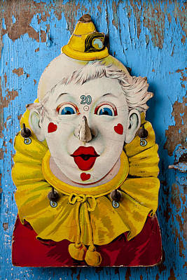 Cardboard Photograph - Clown Toy Game by Garry Gay