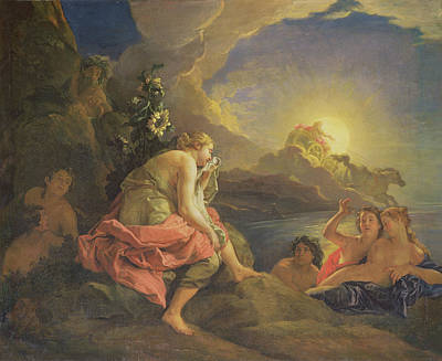 Clytie Transformed Into A Sunflower Print by Charles de Lafosse