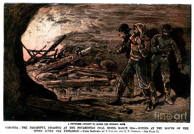 Coal Mine Explosion, 1884 Print by Granger