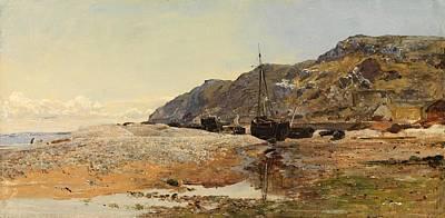 Deep Blue Painting - Coastal Scene by Henry Moore