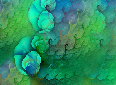 Coastal Waves Print by Betsy Knapp