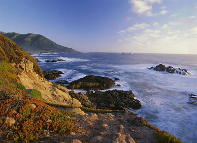 Of Big Sur Beach Photograph - Coastline Big Sur Garrapata State Beach by Tim Fitzharris