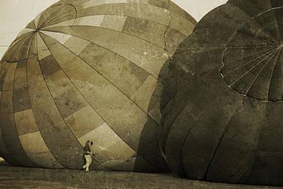 Coaxing The Balloons Print by Betsy Knapp