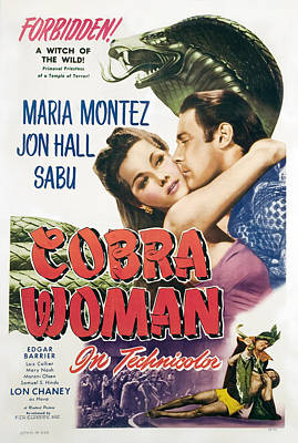 Cobra Woman, Maria Montez, Jon Hall Print by Everett