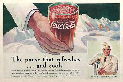 Coca Cola 1937 Print by Georgia Fowler