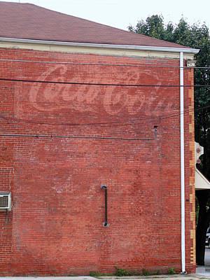 Coca Cola Faded Print by Denise Keegan Frawley