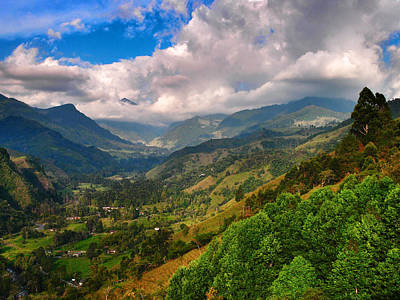 Cocora Valley Print by Skip Hunt