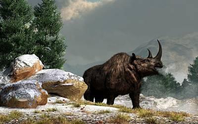 Ice Age Digital Art - Coelodonta Antiquitatis by Daniel Eskridge