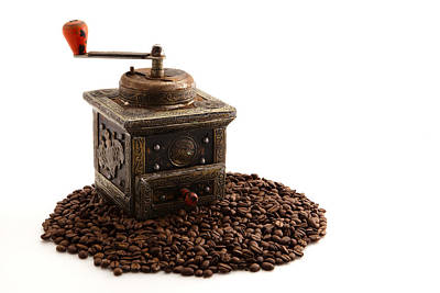 Old Grinders Photograph - Coffee by Tom Gowanlock