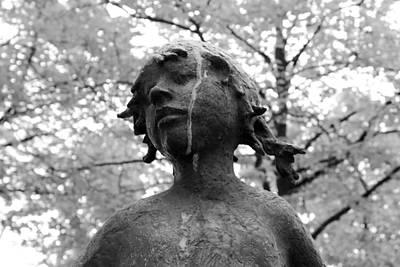 Statue Portrait Photograph - Cold Girl by Steve K