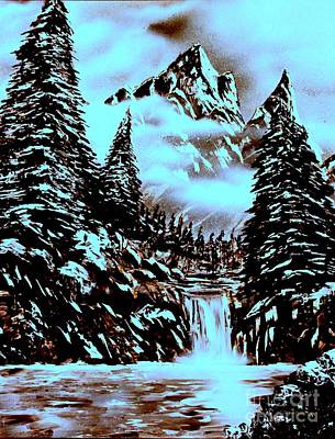 Snowscape Painting - Cold Mountain by Greg Moores