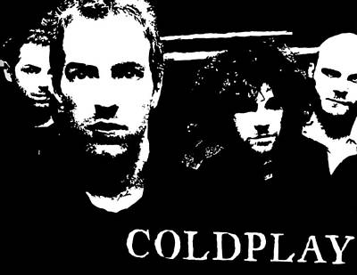 Coldplay Digital Art - Coldplay by Paula Sharlea
