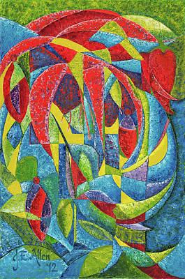 Dr. J Painting - Colibri by Joseph Edward Allen