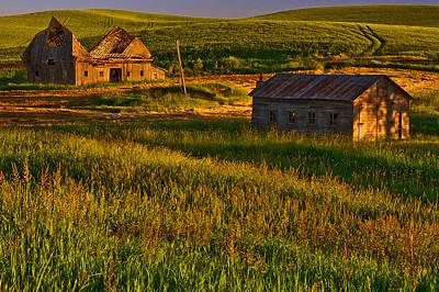 Barn Photograph - Collapsed by Dan Mihai