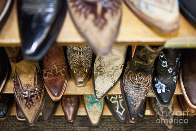 Collection Of Cowboy Boots Print by Bryan Mullennix