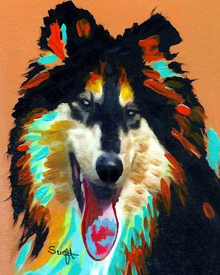 Dog Painting - Collie by Char Swift