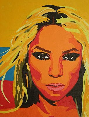 Shakira Painting - Colombiana by Adrienne S