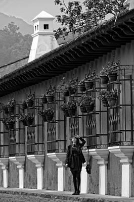 Girl Photograph - Colonial House Bnw by Francesco Nadalini