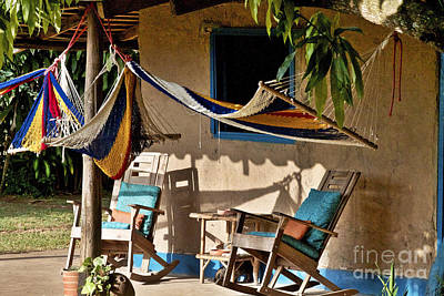 Rocking Chairs Photograph - Colonial Style House by Heiko Koehrer-Wagner