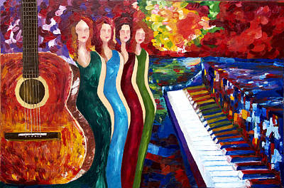Pallet Knife Painting - Color Of Music by Yelena Rubin