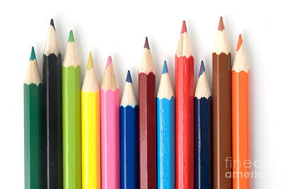 Colored Pencil Abstract Photograph - Color Pencils by Kati Molin