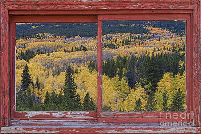 Picture Window Frame Photos Art Photograph - Colorado Red Rustic Picture Window Frame Photo Art by James BO  Insogna
