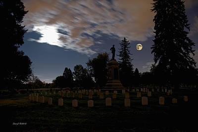 Colorado Volunteers Under The Full Moon Print by Stephen  Johnson