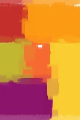 Digital Pastel Painting - Colorblock by Heidi Smith