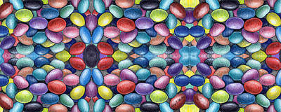 Colored Beans Design Print by Nancy Mueller