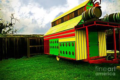 Colorful Barn Print by James Serikov