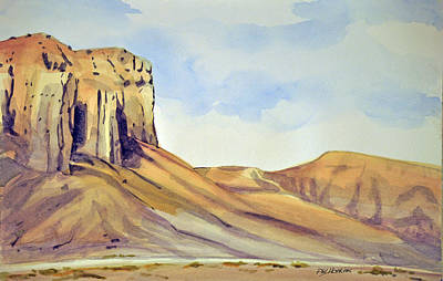 Phil Hopkins Painting - Colorful Butte by Phil Hopkins