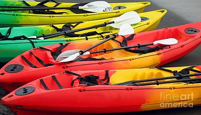 Colorful Canoes Print by Yali Shi