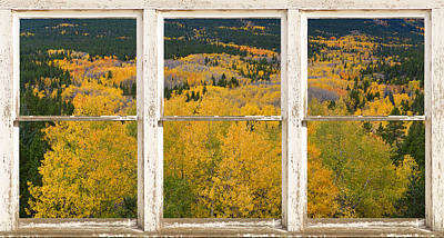 Picture Window Frame Photos Art Photograph - Colorful Colorado Picture Window Frame View Photo Art by James BO  Insogna