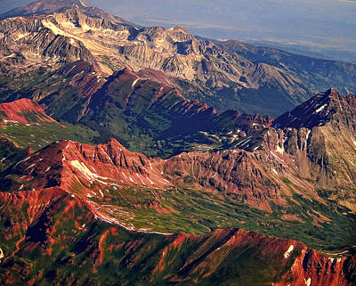 Colorful Colorado Rocky Mountains Planet Art Print by James BO  Insogna