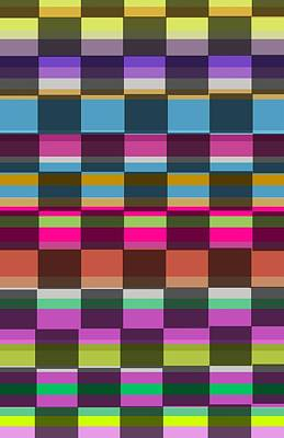 Loud Digital Art - Colorful Cubes by Louisa Knight