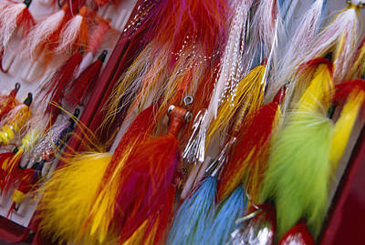 Colorful Fishing Lures Made Print by Michael Melford